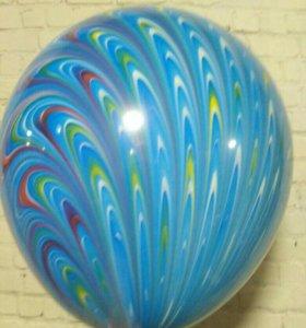 Воздушные шары-павлины
