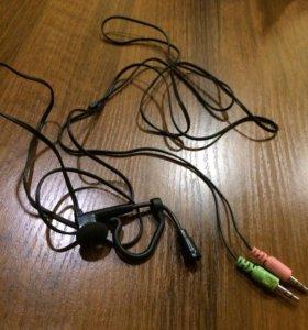Микрофон с наушником для скайп