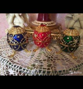 Декоративные яйца-шкатулки новые