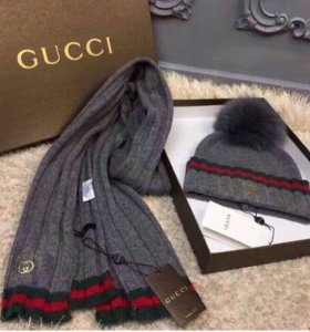 Набор Gucci (шапка с шарфом)