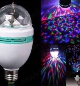 Вращающаяся led диско лампа для вечеринок!
