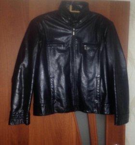 Кожаная мужская куртка р 52-54 осень торг