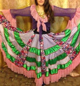 Цыганский костюм карнавальный на праздник 40-52