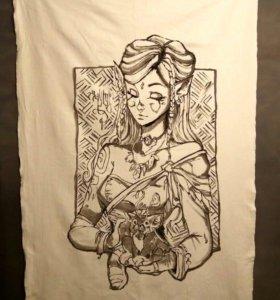Рисунок на ткани 140/100