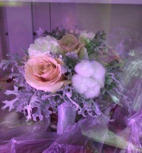 Букет свадебный в зимних тонах