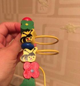 Деревянный лабиринт игрушка