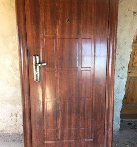 Б/у дверь метал