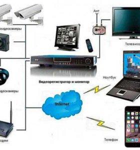 Видеонаблюдение GSM сигнализации