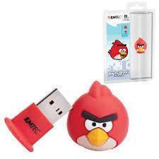 Память USB2.0 8Gb Emtec Фигурка Angry Birds Red