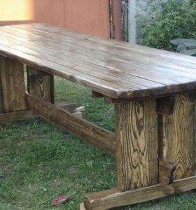 Стол под старение из массива сосны