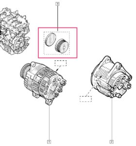 ga755.05_шкив генератора дастер, трафик 2 , 7 ру