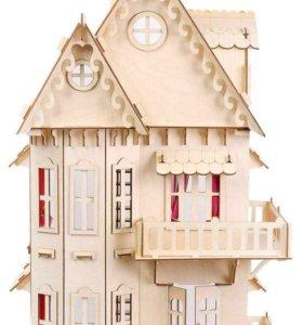Кукольный домик + комплект мебели