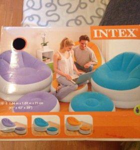 Кресло + оттоманка