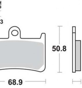Передние тормозные колодки Fjr 1300, r1