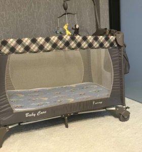 Детская кровать 3 в 1+матрас