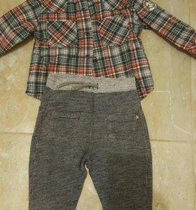Рубашка и 2пары штанов Zara