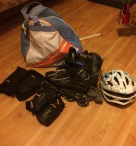 Ролики , сумка для роликов и защита