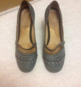 Туфли из нат. нубука