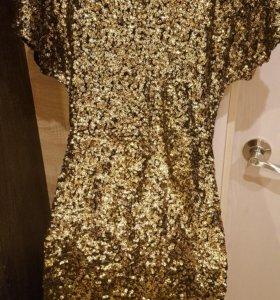 Платье на новый год золотое