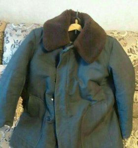 Теплая куртка на натуральной овчине