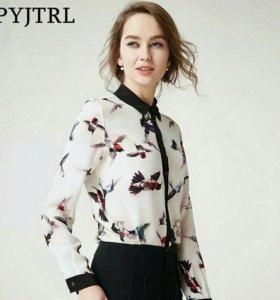 Новая блузка из 100% натурального шелка 40-42 р.
