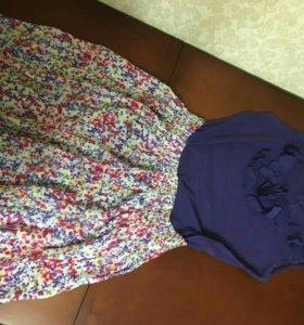 Комплект юбка с футболкой