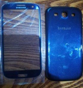 Панель и новая задняя крышка на Samsung s3