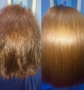 Кератиновое выпрямление волос и ботокс