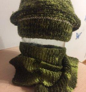 Шапка+шарф+варежки