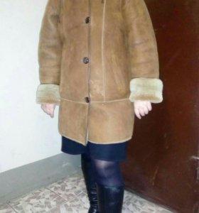 Дубленка зимняя женская