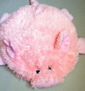 Свинка подушка-игрушка розовая