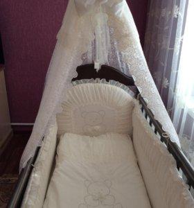 Кроватка Маятник + матрац!