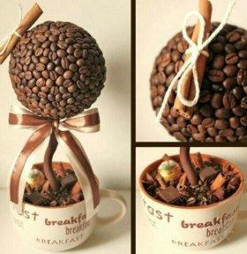 Подарок из кофейных зерен