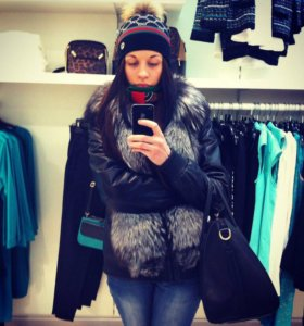 Утеплённая кожаная куртка 2в1