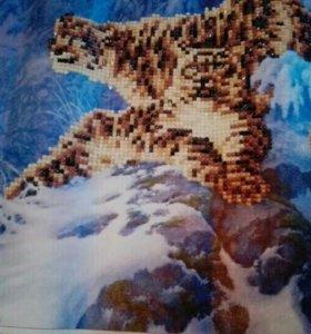 Картина в стиле алмазная мозаика