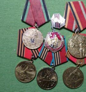 Медали и знаки разные. Юбилейные.