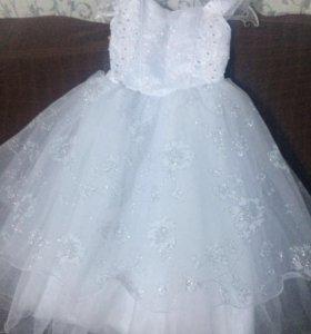 Платье на девочку (в пол)