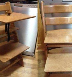 Детский растущий стул - натуральный цвет