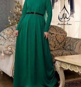 Теплое платье хиджаб