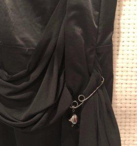 Чёрное коктейльное/вечернее короткое платье