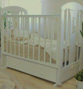 Детская Кроватка Виталина Можга с матрасиком