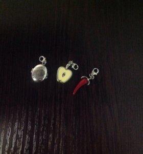 Серебрянные шармы к браслетам Valtera