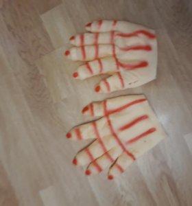 Перчатки на хеллоуин