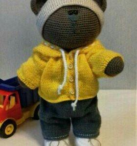 Вязаная игрушка медведь ручная работа 👐