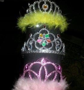 Ободок на голову корона праздничный