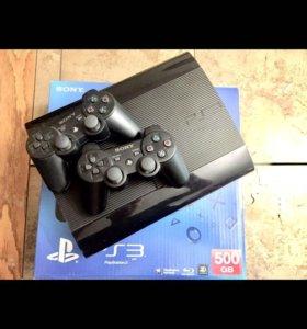 Sony PlayStation 3 + куча игр (fifa 18, gta5)