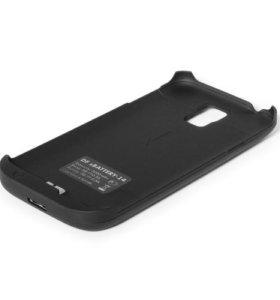 Чехол-Аккумулятор на Samsung S5 (3000mAh) чёрный
