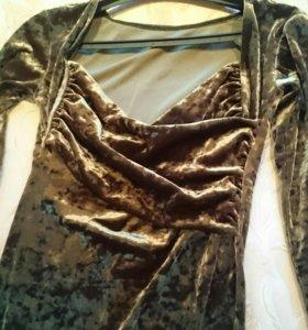 Платье вечернее велюр.