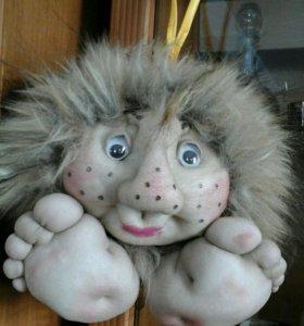"""Кукла ручной работы """"Домовёнок Кузя"""""""