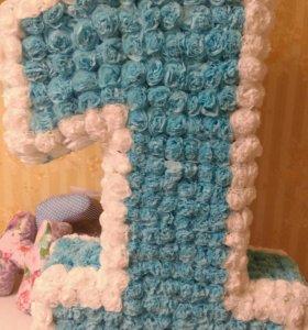 Цифра 1 , оформление на день рождения. Прокат 150р